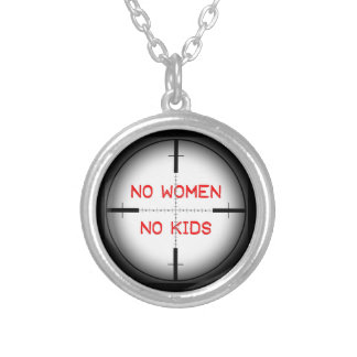 No Women. No Kids. Silver Plated Necklace