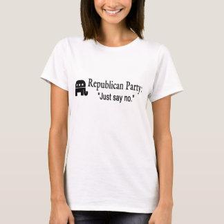 No, women's black on white T-Shirt