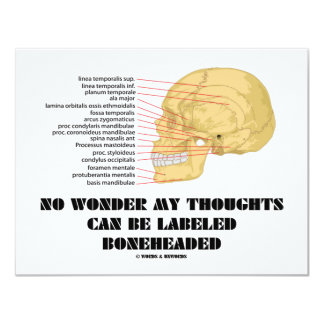 No Wonder My Thoughts Can Be Labeled As Boneheaded 4.25x5.5 Paper Invitation Card