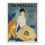 No Wonder That I Love You Vintage Songbook Cover Poster