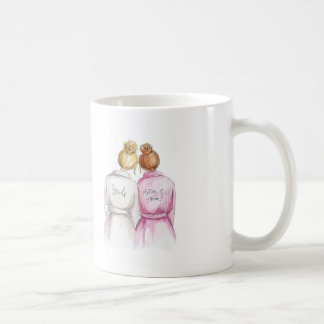 No Words Blonde Bun Bride Red Matron Coffee Mug