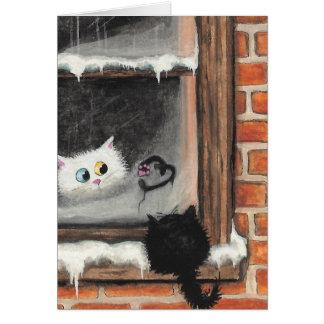 No Words Needed - Valentine Cats by BiHrLe Card