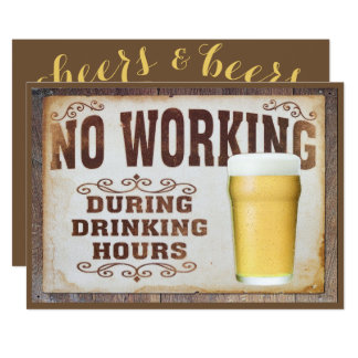 """No Working"" Men's Double Sided Birthday Card"