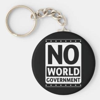 No World Government #1 Basic Round Button Keychain