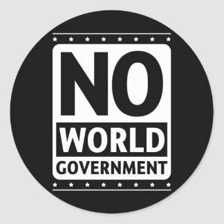 No World Government #1 Classic Round Sticker