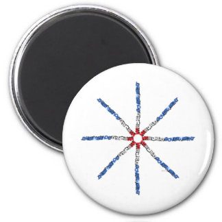 No World Government 2 Inch Round Magnet