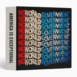 No World Government 3 Ring Binder