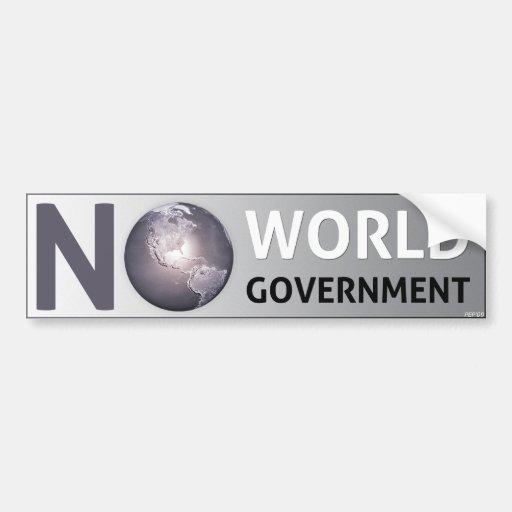 No World Government Bumper Sticker