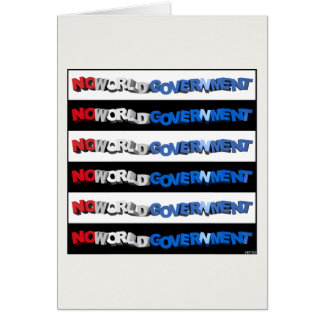 No World Government Card