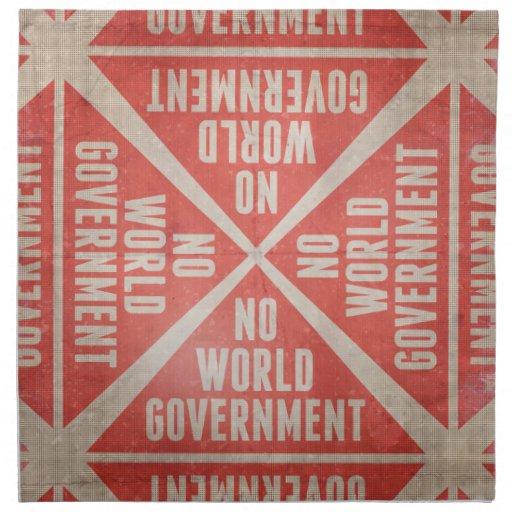 No World Government Cloth Napkins