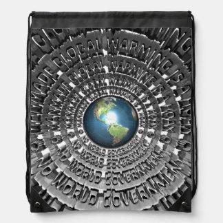 No World Government Drawstring Backpacks