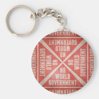 No World Government Keychain