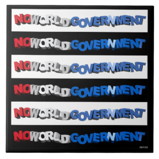 No World Government Large Square Tile