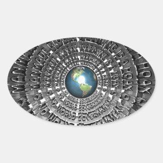 No World Government Oval Sticker