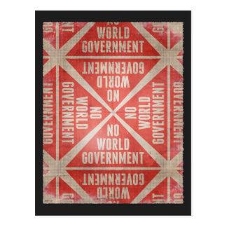 No World Government Postcard