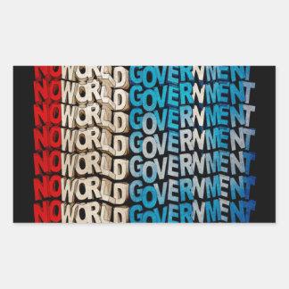 No World Government Rectangular Sticker