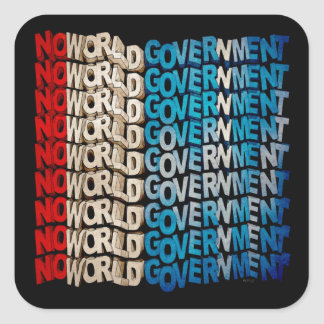 No World Government Square Sticker