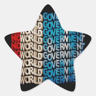No World Government Star Sticker