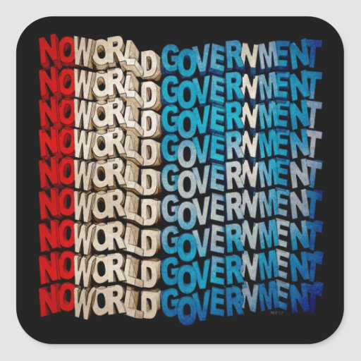 No World Government Stickers