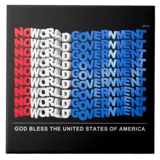 No World Government Ceramic Tiles