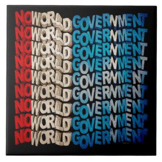 No World Government Ceramic Tile