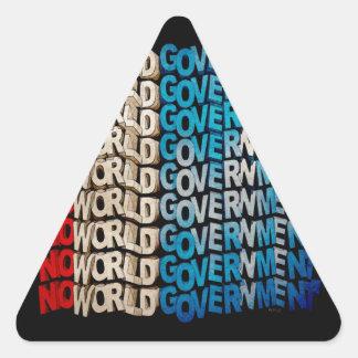 No World Government Triangle Sticker