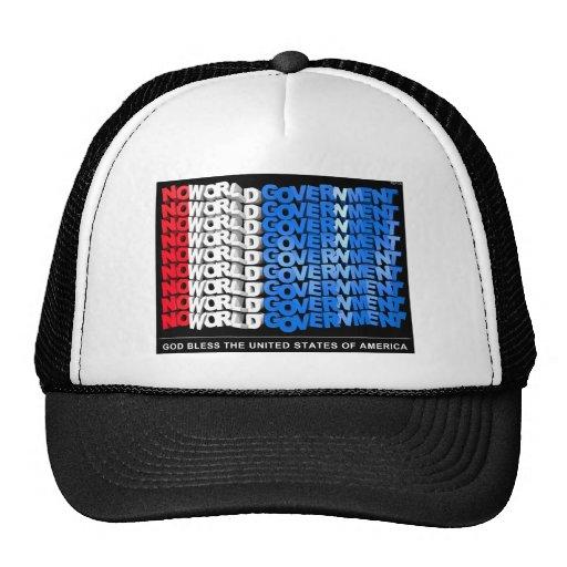 No World Government Trucker Hats