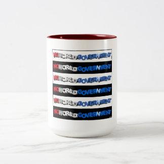 No World Government Two-Tone Coffee Mug