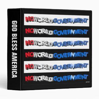 No World Government Vinyl Binders