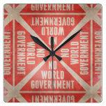 No World Government Wallclock