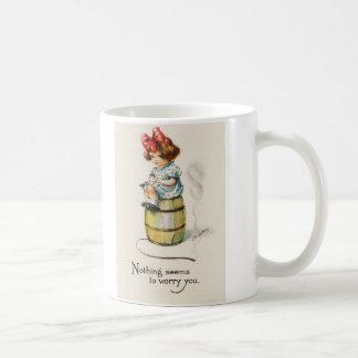 """No Worries"" Cute Little Girl Coffee Mug"