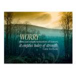 No Worries inspirational post card