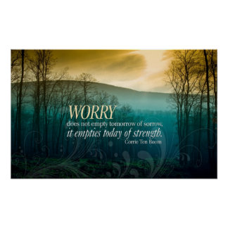 No Worries inspirational poster print