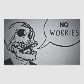 No worries.jpg rectangular sticker