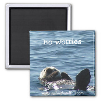no worries sea otter 2 inch square magnet