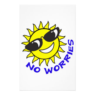 NO WORRIES STATIONERY PAPER