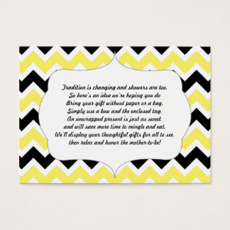 No wrap insert card baby shower yellow black