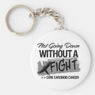 No yendo abajo sin una lucha - cáncer carcinoide llavero personalizado