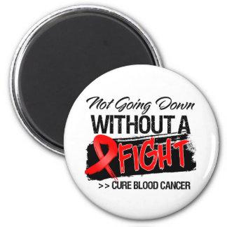 No yendo abajo sin una lucha - cáncer de sangre imán de frigorifico
