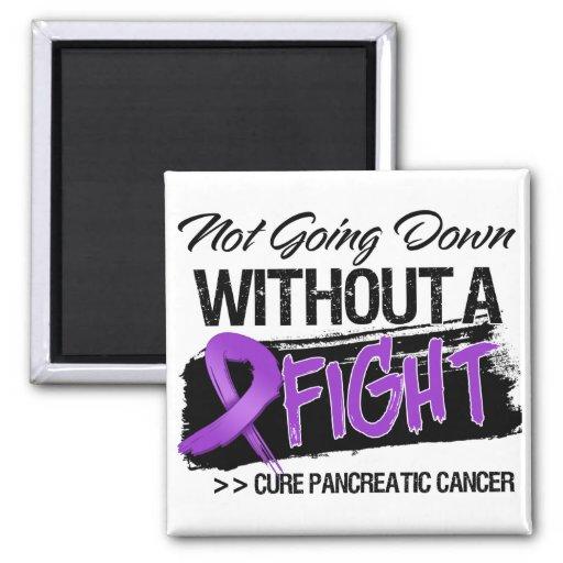 No yendo abajo sin una lucha - cáncer pancreático imanes de nevera