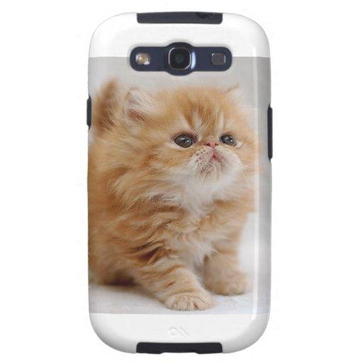 ¡No yo! Gatito persa anaranjado decidido Samsung Galaxy SIII Funda