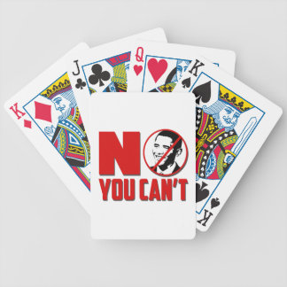 No You Can't Anti Obama Bicycle Playing Cards