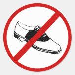 no-zapatos etiquetas redondas