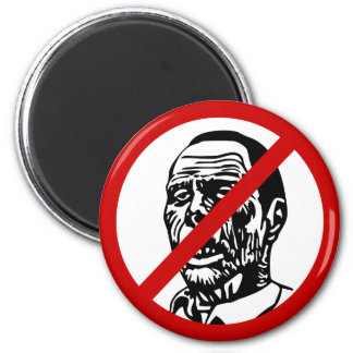 no-zombies 2 inch round magnet