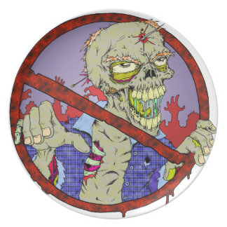 No Zombies Dinner Plate