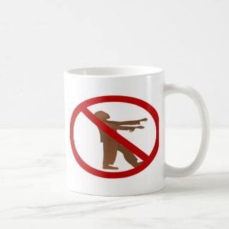 No Zombies Classic White Coffee Mug