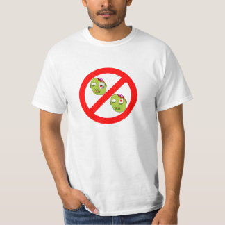 No Zombies Universal Sign Value Tee T Shirt