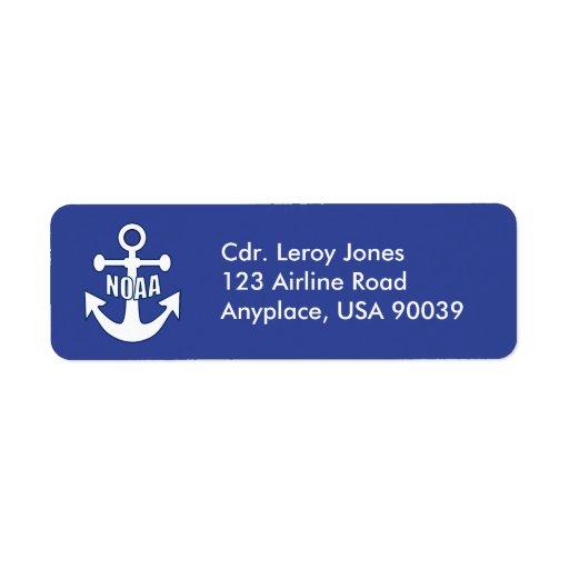 NOAA Anchor Emblem Address Sticker Return Address Label