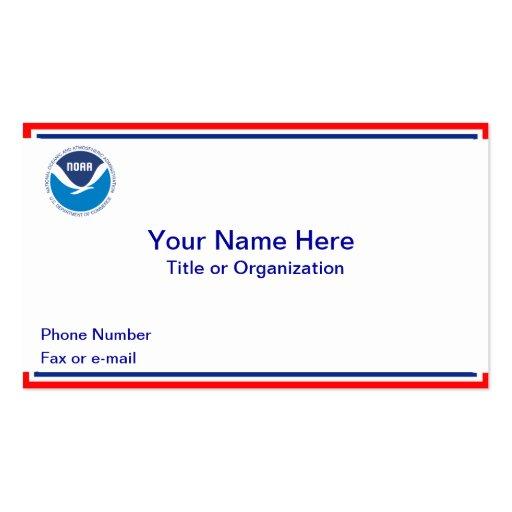 NOAA Business Card