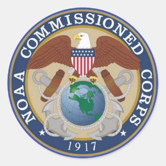 NOAA Comisión a cuerpos Pegatina Redonda